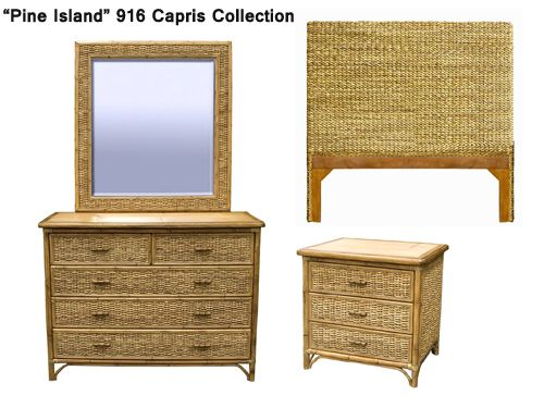 Pine Island Wicker and Rattan Bedroom Furniture from Capris 916 ...
