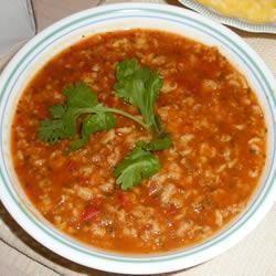 Soupe à la tomate et à l'avoine