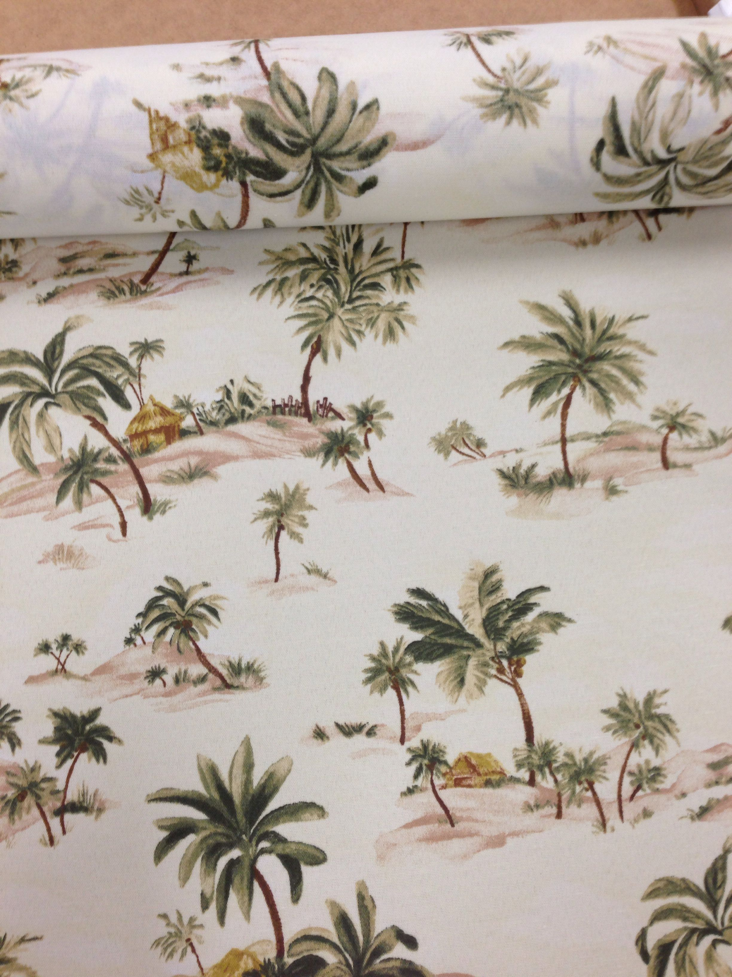 Palm Tree Fabric From Fabric Traders Palm Tree Fabric Tropical