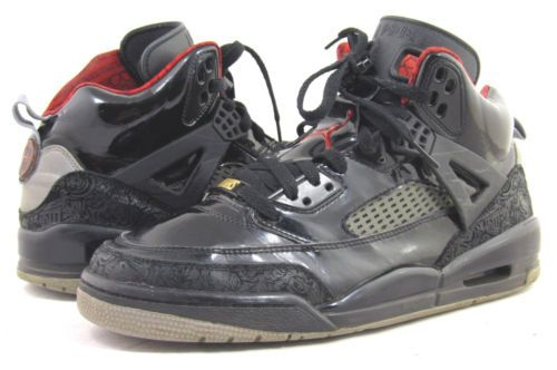 4f5ec73d86bc94 Nike Air Jordan Mike Mars Spizike Stealth Black Varsity Red Shoe Size 10 5  RARE