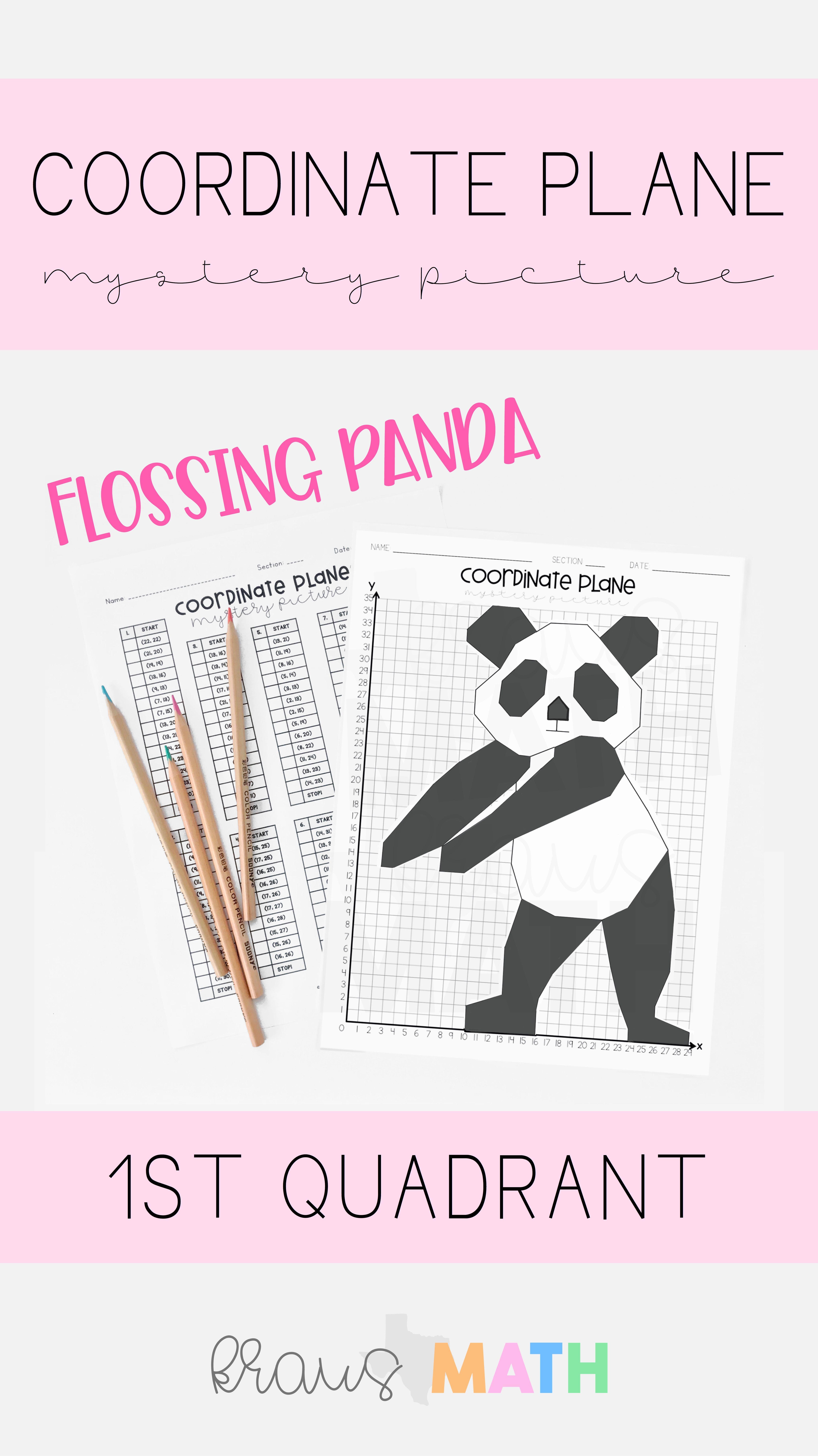 Panda Floss Dance Coordinate Plane Activity Kraus Math Coordinate Plane Activity Coordinate Plane Fun Math Worksheets [ 8013 x 4505 Pixel ]