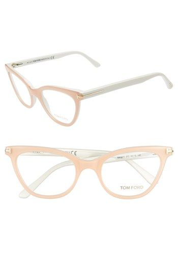 daf40cb65c Love this shade of light blush pink on these Tom Ford cat eye glasses