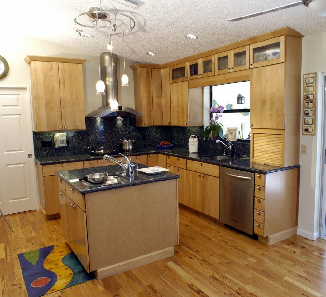 Small L Shaped Kitchen With Island Design Decorating