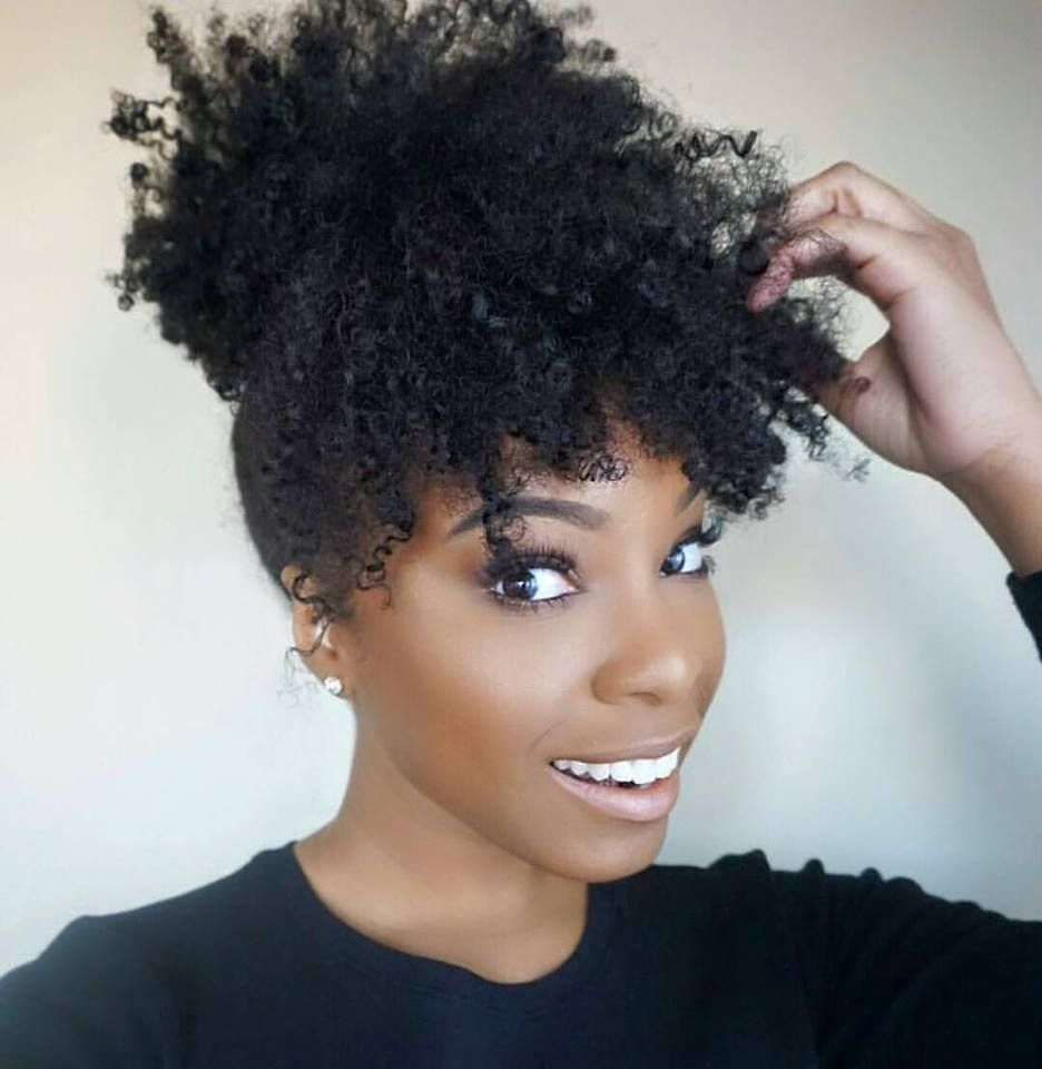 curly afro ponytail - 768×787