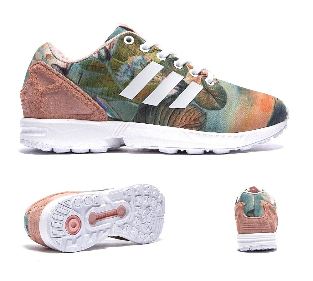 official photos 17915 2392c adidas Originals Womens ZX Flux Farm Trainer | Dust Pink ...