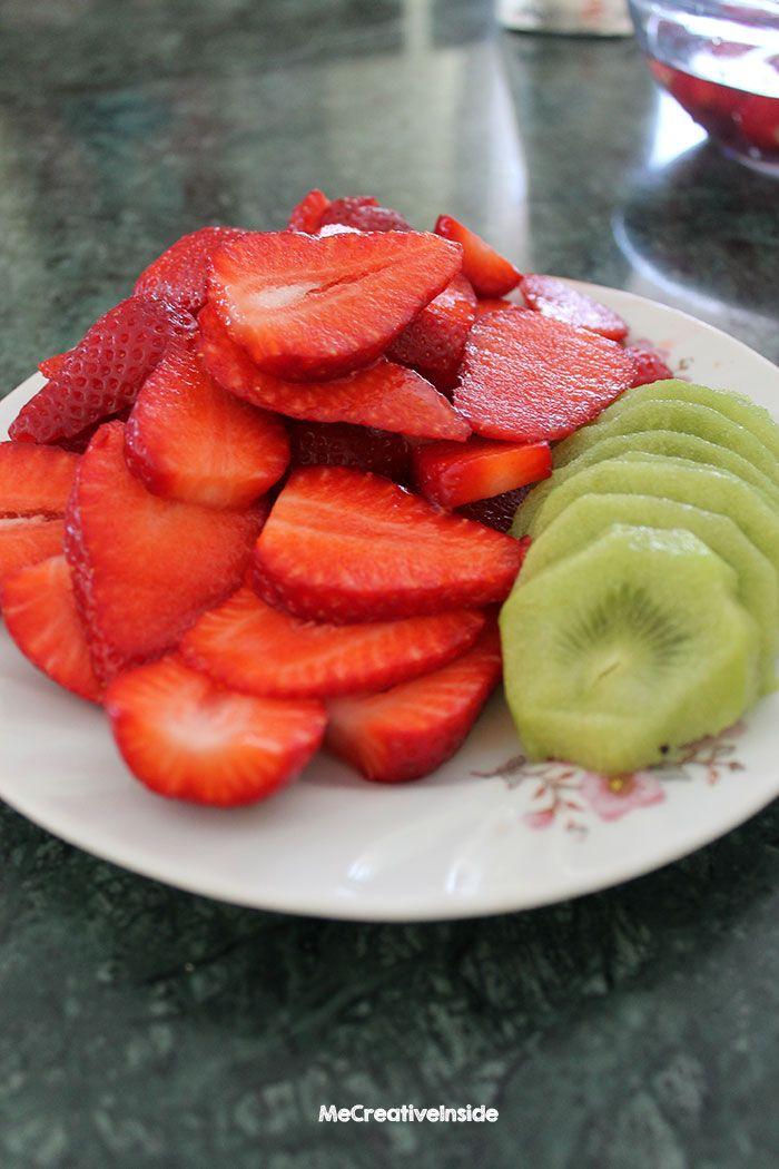 dolci tutorial crostata di fragole e kiwi frutta ME creativeinside