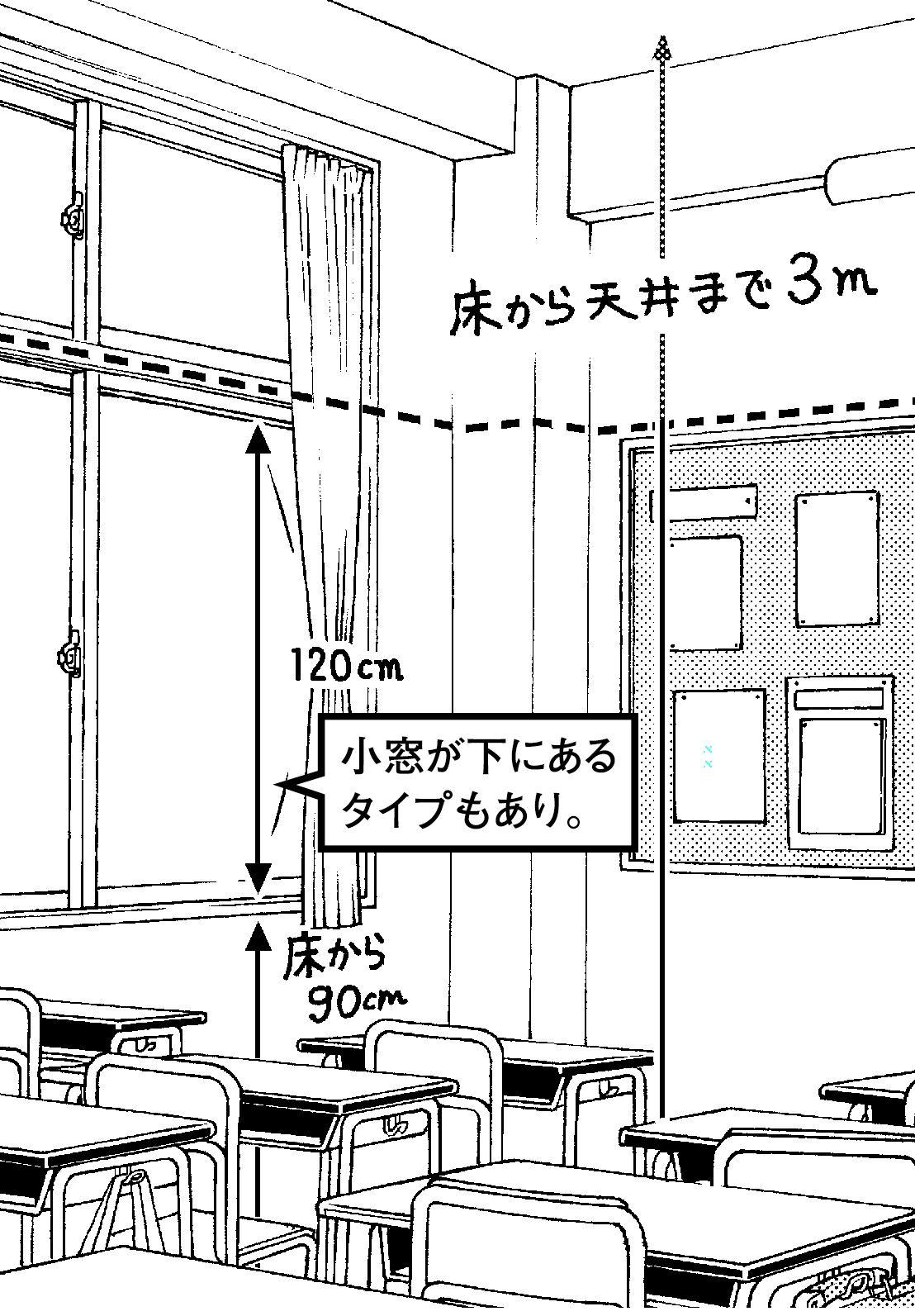 超級 背景講座 Maedaxの背景萌え 学校の教室編 イラスト