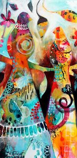 """Tracy Verdugo. 2013. I See your True Colours. acrylic on canvas. 45x90cm. Available for purchase. """"I must be a mermaid... I have no fear of depths, and a great fear of shallow living."""" —Anais Nin - See more at: http://www.live-inspired.com/I-must-be-a-mermaid-P1072#sthash.Cj9yrhAx.dpuf So don't be afraid to let them show Your true colors True colors are beautiful, Like a rainbow Cyndi Lauper"""