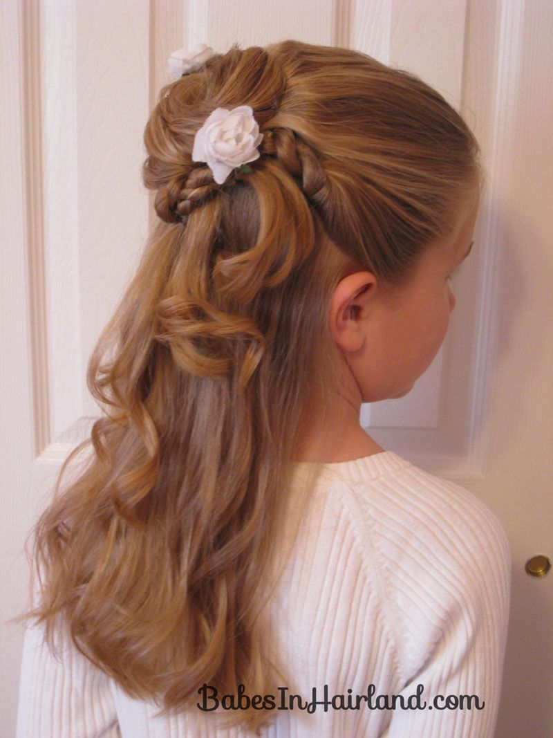twisted flower girl hairstyle | babes in hairland | hairstyles