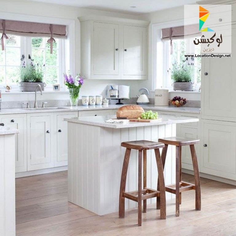 ديكورات مطابخ مفتوحة صغيرة المساحة 2017 2018 لوكشين ديزين نت Small Cottage Kitchen Small Country Kitchens Kitchen Design Small