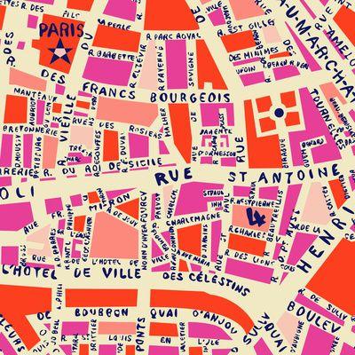 Paris Map Art Print Society6 Maps Pinterest Art Paris Map
