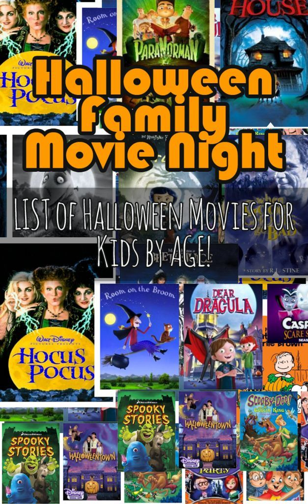 Halloween Movies For Kids by Age- List of 21 | Halloween movies ...