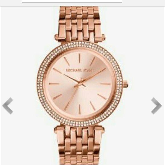 Make Offer New Michael Kors Darci Rose Gold Watch Nwt With Images Rose Gold Watches Michael Kors Darci Watches Women Michael Kors