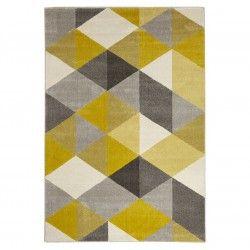 tapis design jaune gris mozaik atylia esprit. Black Bedroom Furniture Sets. Home Design Ideas