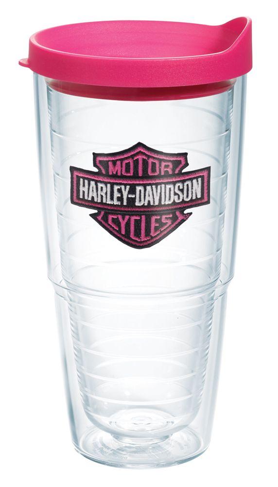 Harley-Davidson® Pink Bar & Shield Emblem 24oz Tervis Tumbler