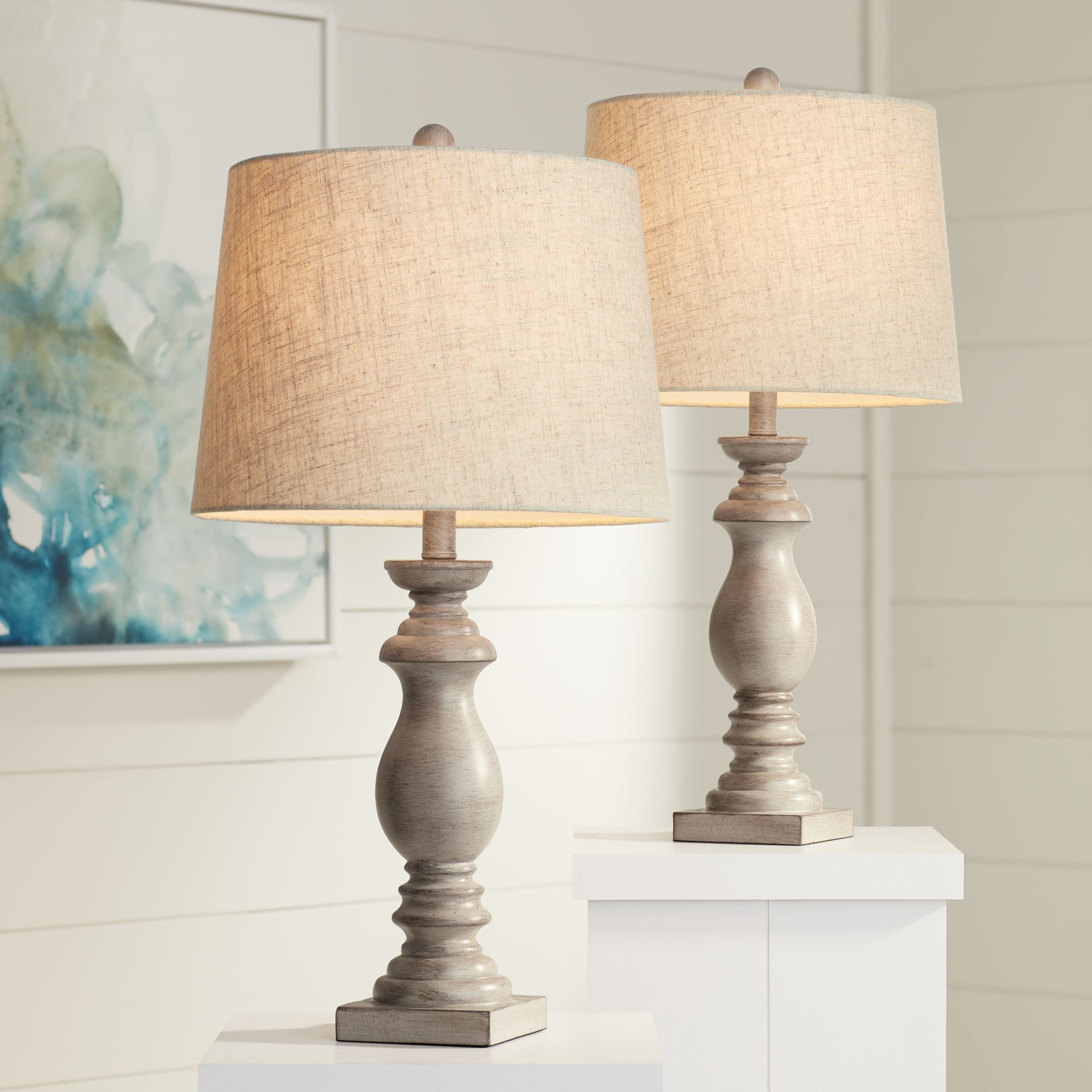 Regency Hill Traditional Table Lamps Set Of 2 Beige Washed Fabric Tapered Drum Shade For Living Room Bedroom Nightstand Family Walmart Com Farmhouse Table Lamps Traditional Table Lamps Bedroom Night Stands #table #lamp #sets #living #room