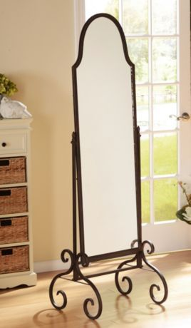 Tapley Cheval Floor Mirror | Wrought iron, Iron and Floor mirror