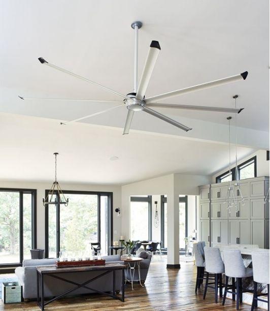 Large Silver Essence Fan Modern Ceiling Fan Living Room Ceiling