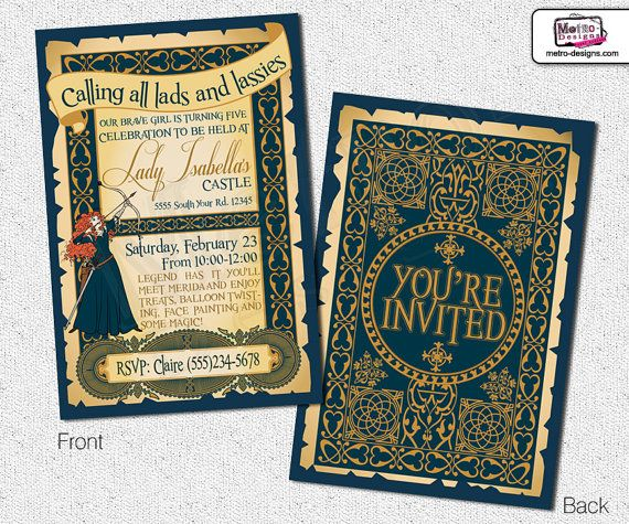 The Brave  Invitation by MetroEvents on Etsy, $6.98