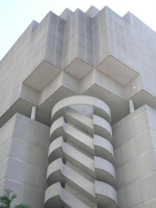Brutalist Stair Downtown Atlanta by isaiahk