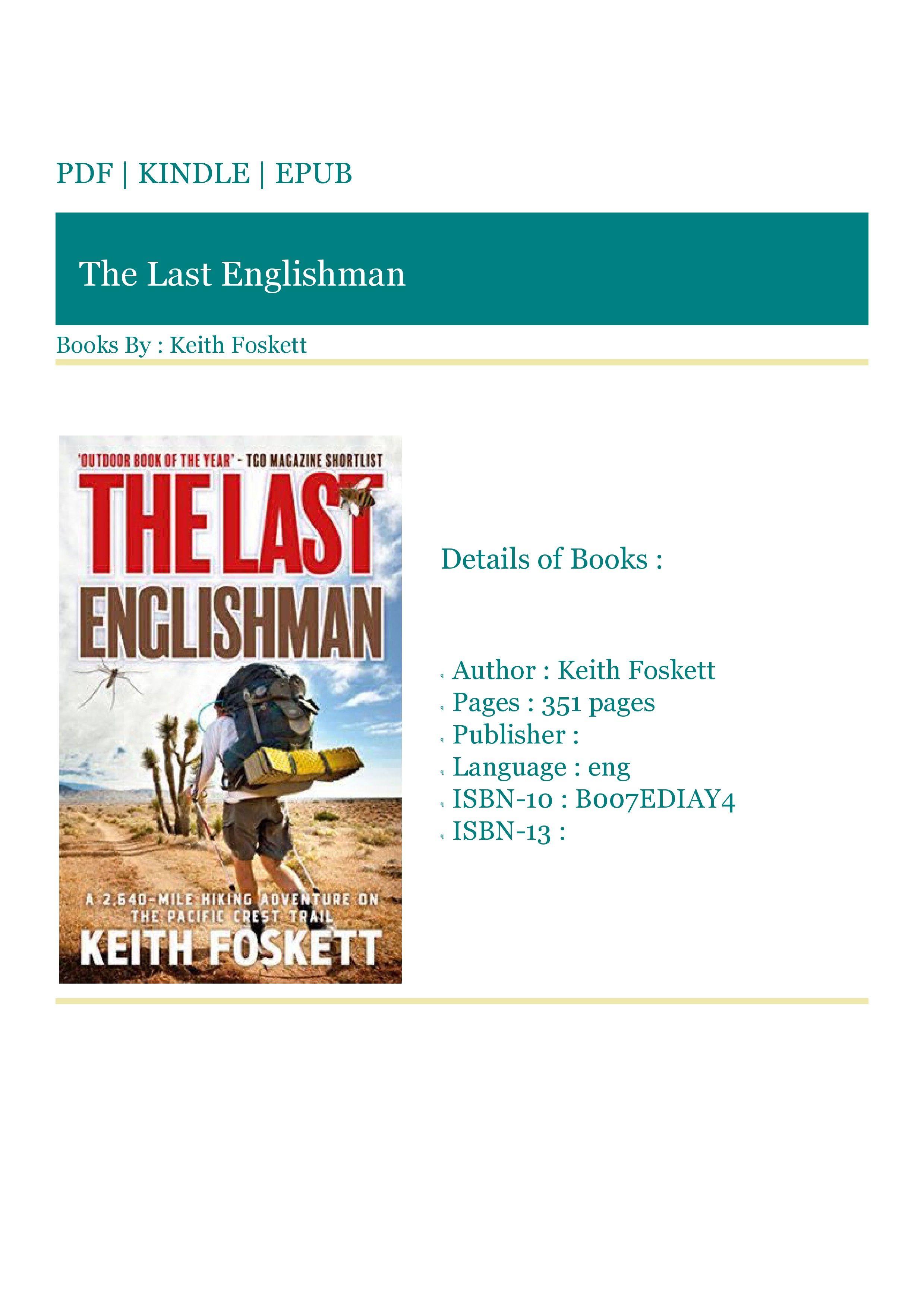***READ (BOOKS) The Last Englishman in 2020 Books to