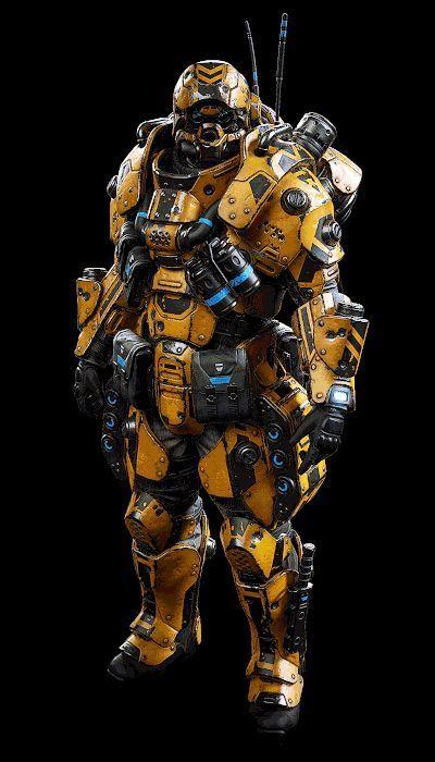 ArtStation  Planetside Arena  Class armour Ranu