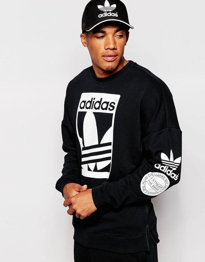 adidas Originals Street Graphic Crew Herren Sweatshirt