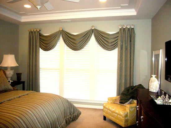 Window treatments for large windows window coverings - Living room window treatments for large windows ...