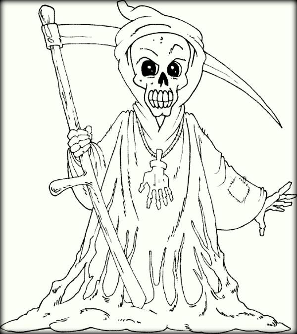 Scary Coloring Pages   Art   Pinterest   Scary