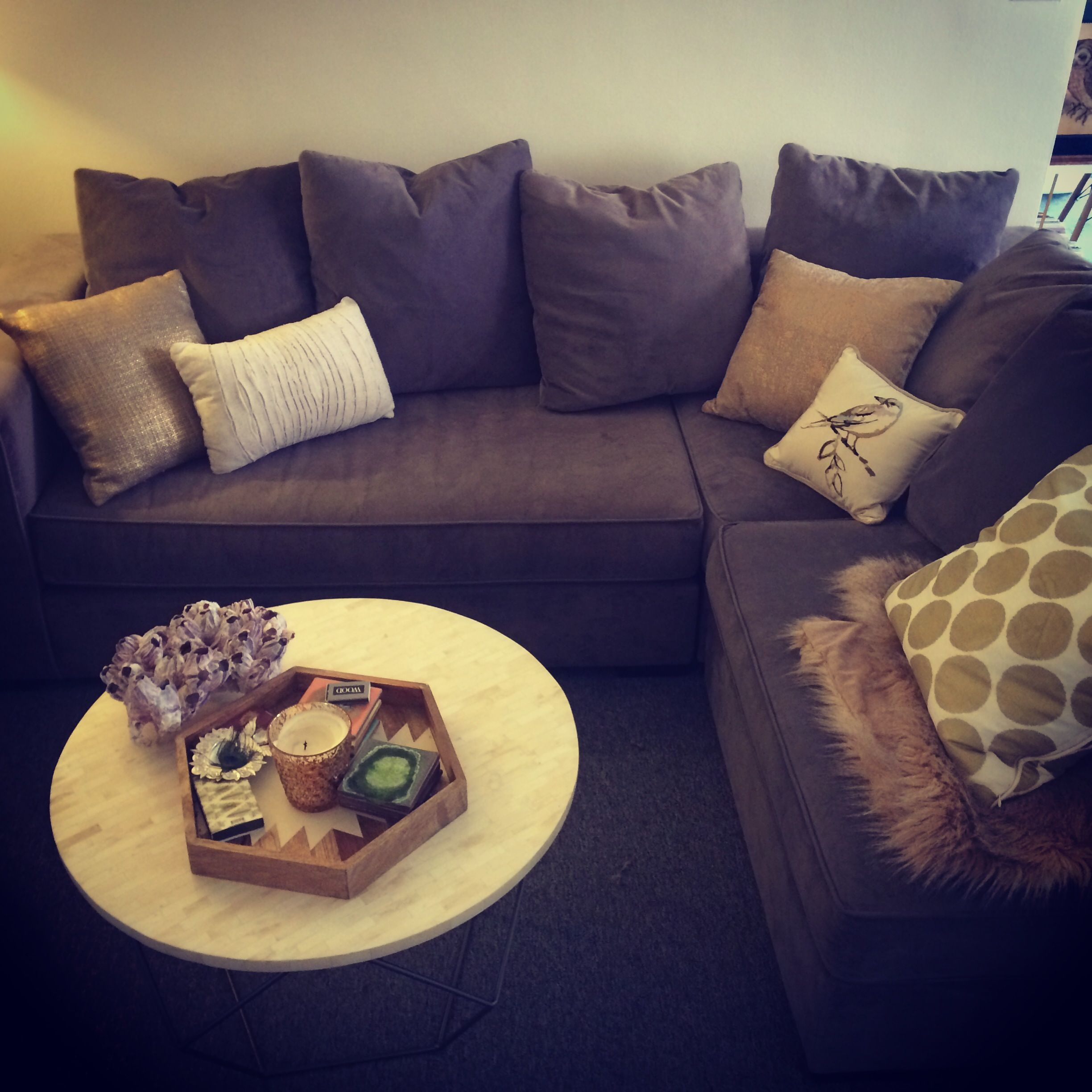West Elm Walton Sectional and coffee table West Elm throw pillows : walton sectional - Sectionals, Sofas & Couches