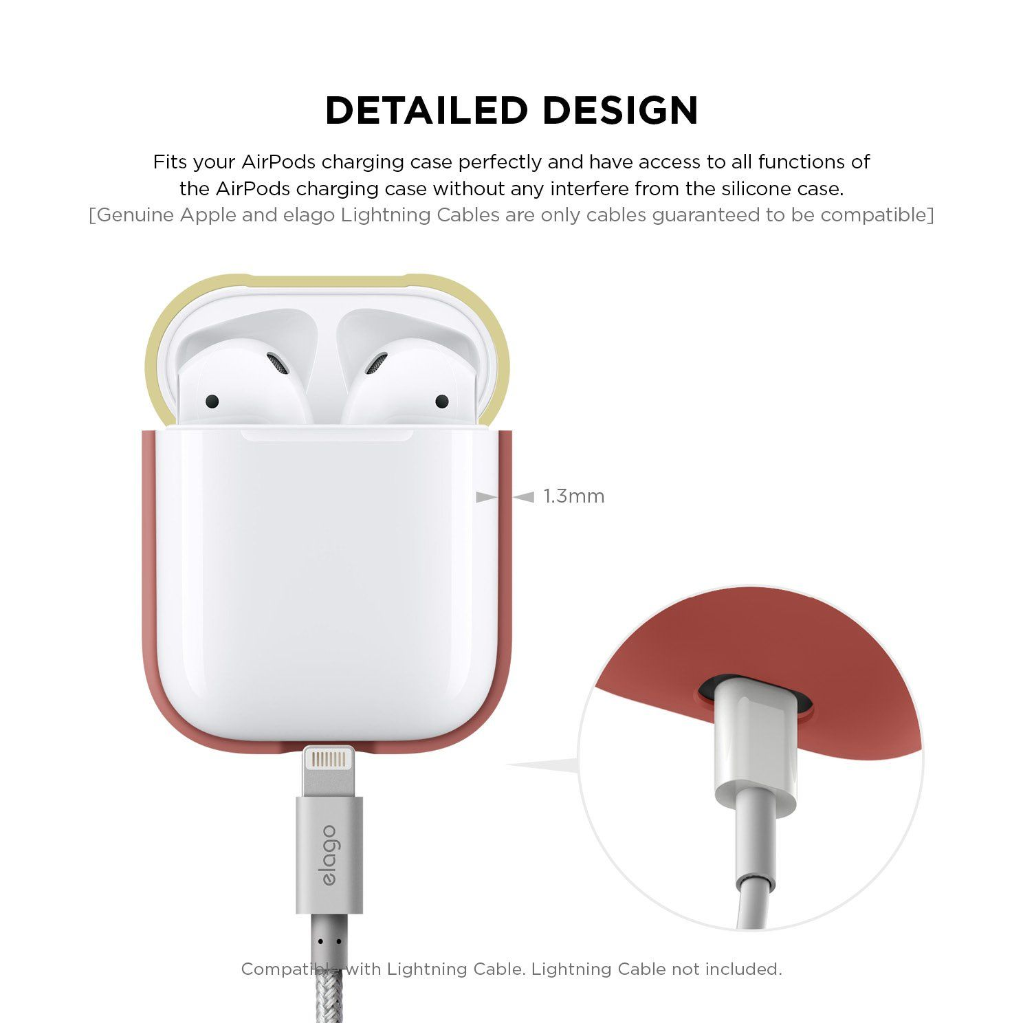 wholesale dealer 34c1a 65fbe elago AirPods Duo Case [Body-Italian Rose/Top-Coral Blue, Yellow ...