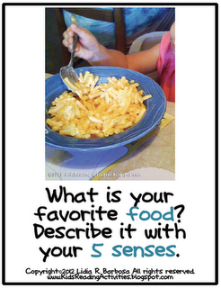 001 What is your favorite food? Describe it with your 5 senses