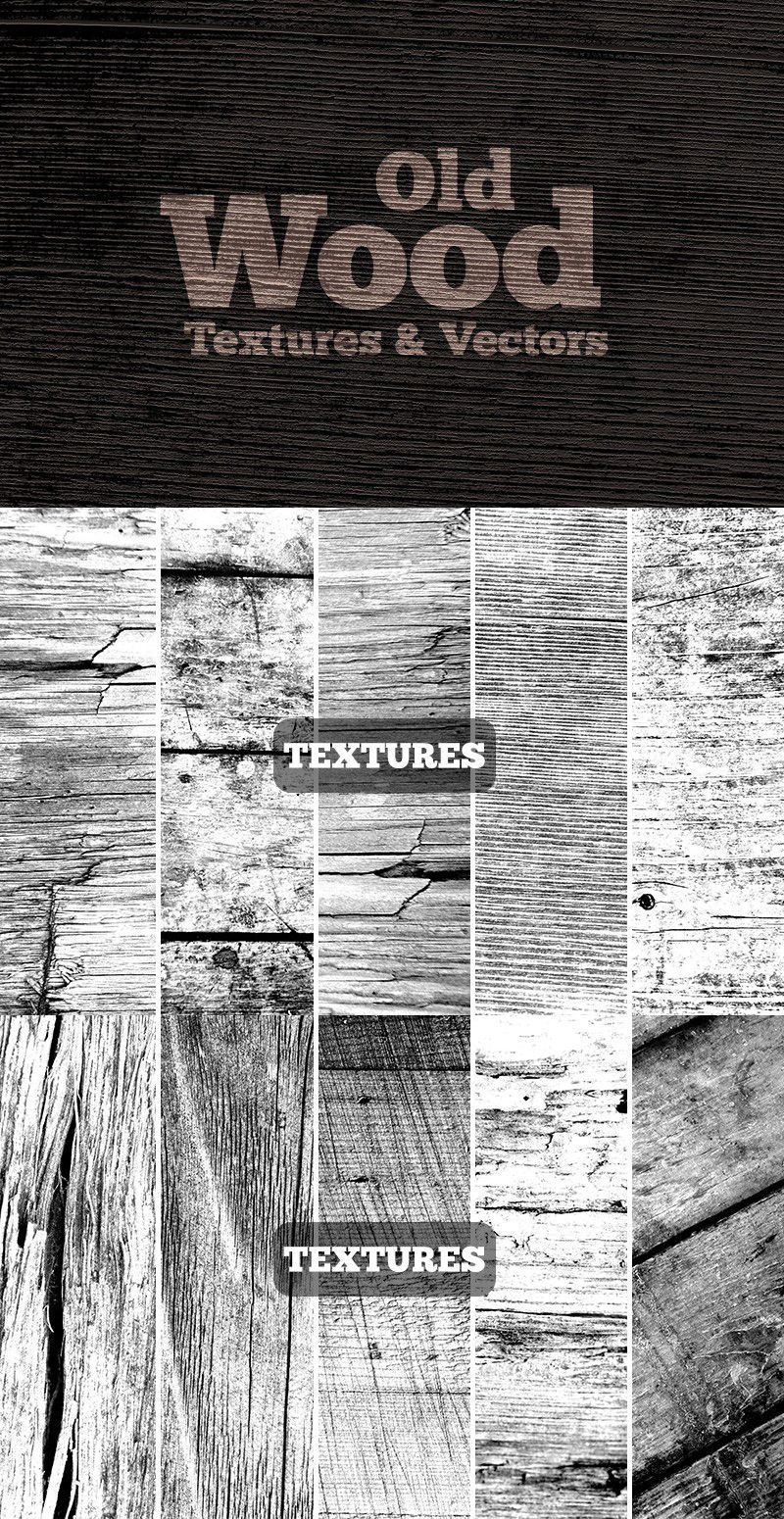 Old Wood Collection Texture Vector Photoshop Textures