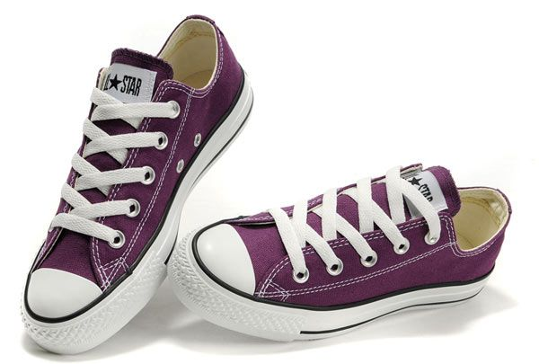 Converse Chuck Taylor All Star Low Top Purple Canvas Shoes [108221] -  $45.00 :