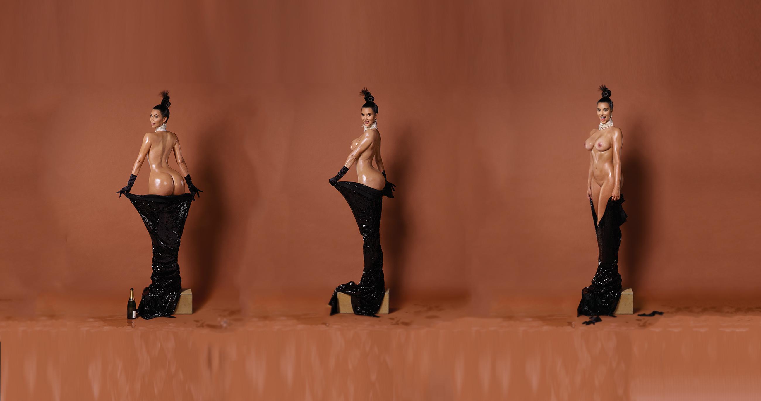 Kim Kardashian Naked In Instagram Make