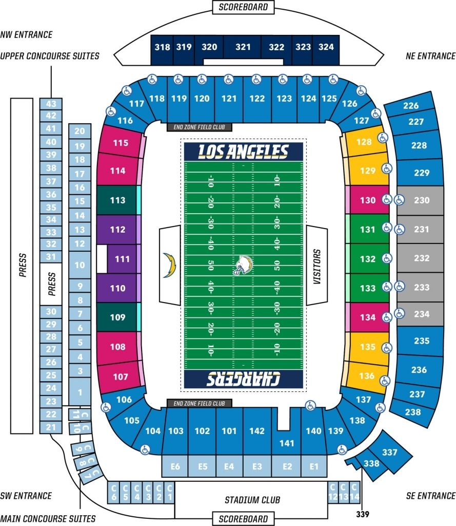 Stubhub Center Chargers Seating Chart Di 2020