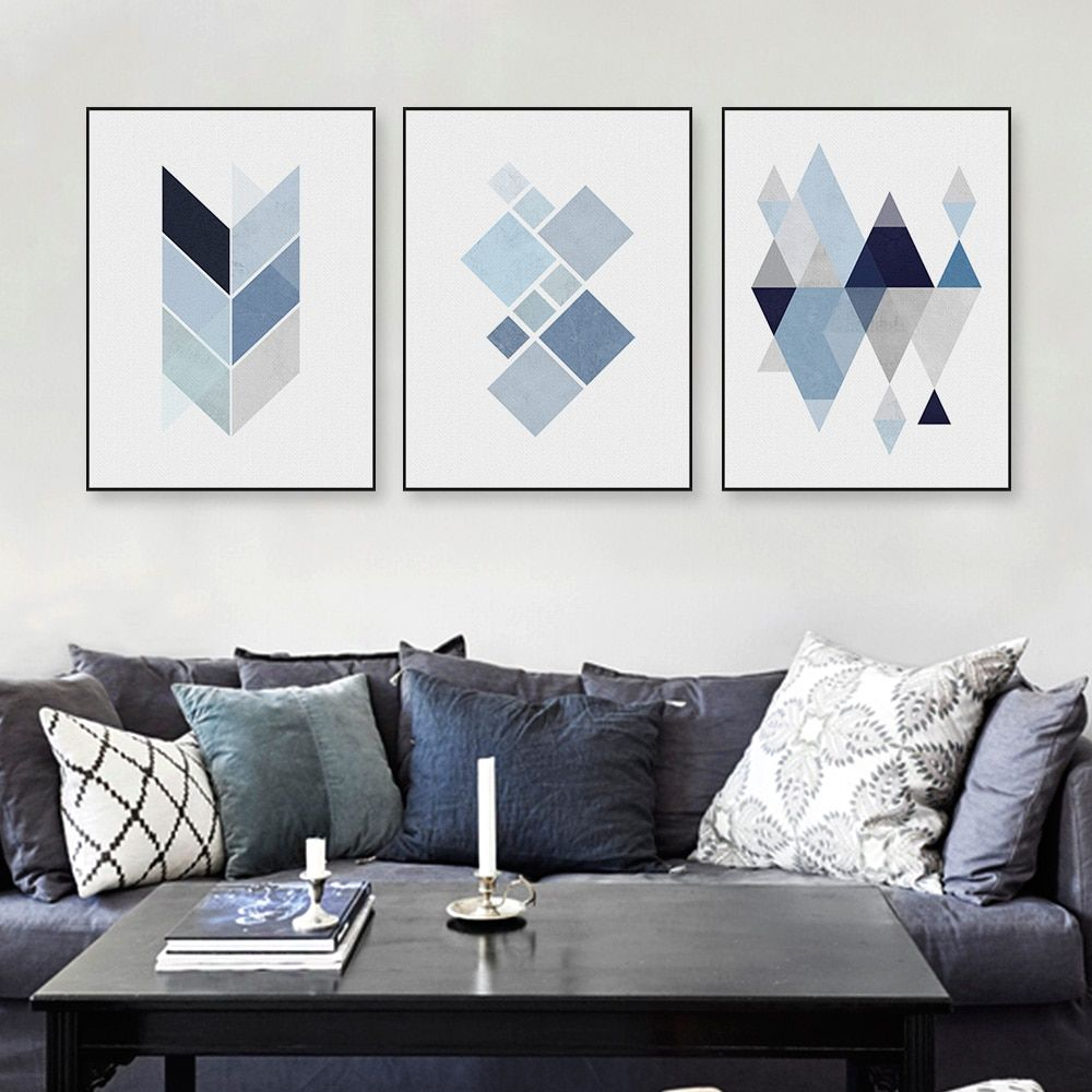 Abstract Geometry Art Canvas Poster Print Nordic Minimalist Art Home Wall Decor