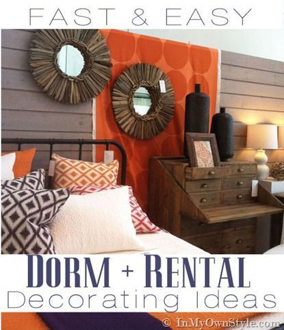 rental or dorm decorating ideas that are easy and affordable to do