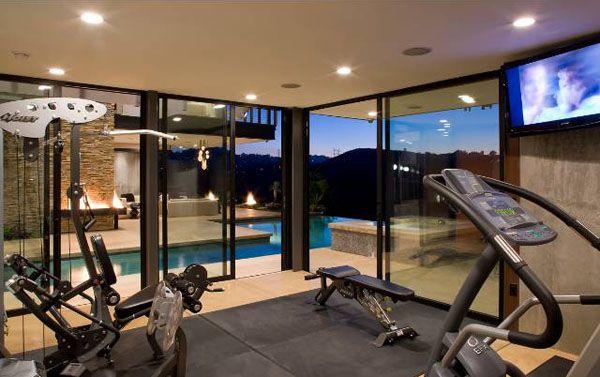 3001 Arrowhead Dr In Hollywood Hills Home Gym Design At Home Gym Dream Home Gym