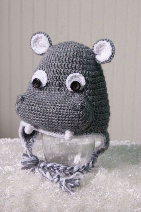 Teen Adult Hippo Hat by Loopsylids on Etsy  76994bafc9db