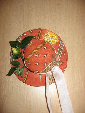 Chapeau de Lavande en tissu provençal #chutedetissu