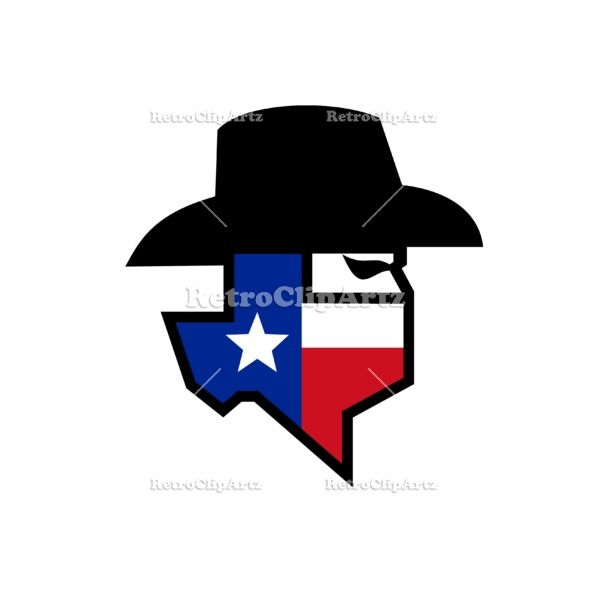 Bandit Texas Flag Icon Flag Icon Retro Illustration Texas Flags
