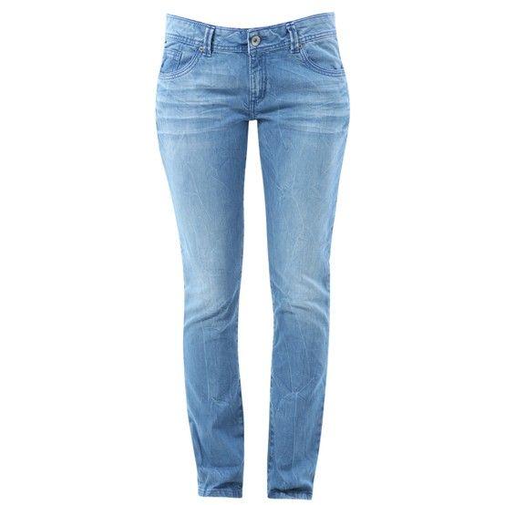 Enganliegende 5-Pocket Jeans aus stretchigem Indigo-Denim