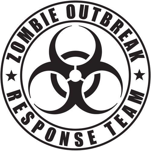 zombie outbreak response team vinyl decal sticker jeep wrangler pick Element 115 Zombies zombie outbreak response team