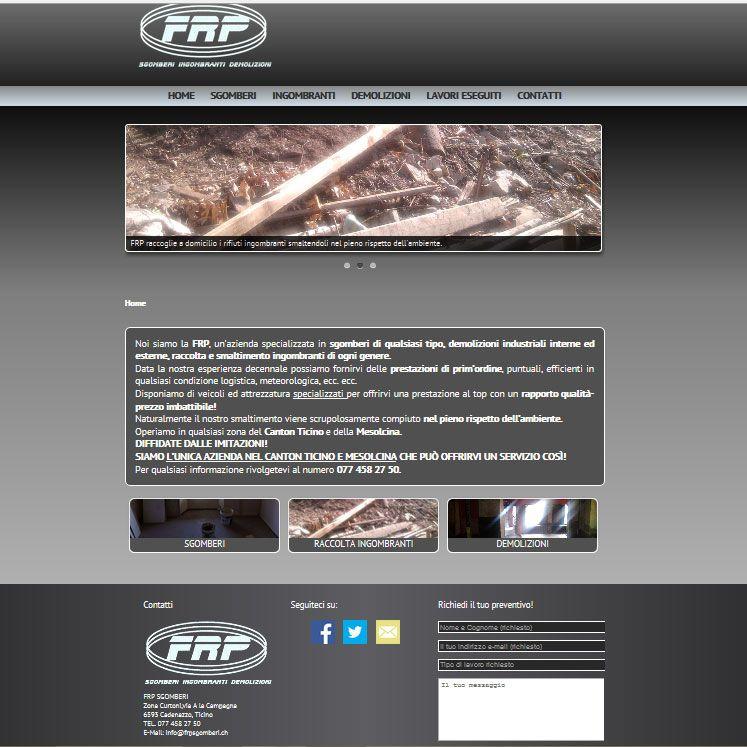 Sito web per FRP SGOMBERI, Ticino.