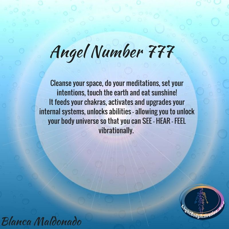 702e378b652 Angel Number 777. Cleanse your space