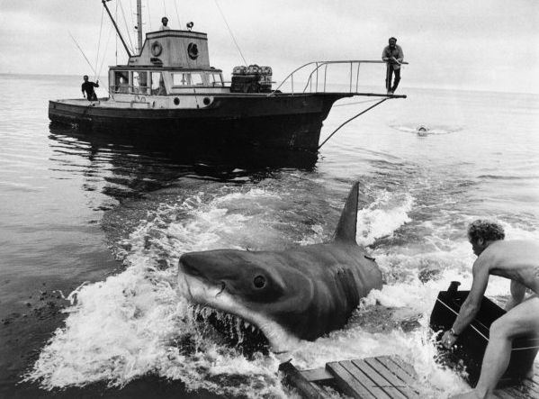 "Jaws--according to writer, Carl Gottlieb, the line ""you're gonna need a bigger boat"" was completely improvised by Roy Scheider"