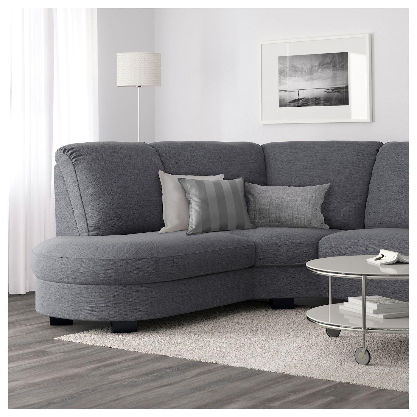 Tidafors Hensta Grey Corner Sofa With Arm Right Ikea Small Corner Sofa Corner Sofa Corner Sofa Living Room