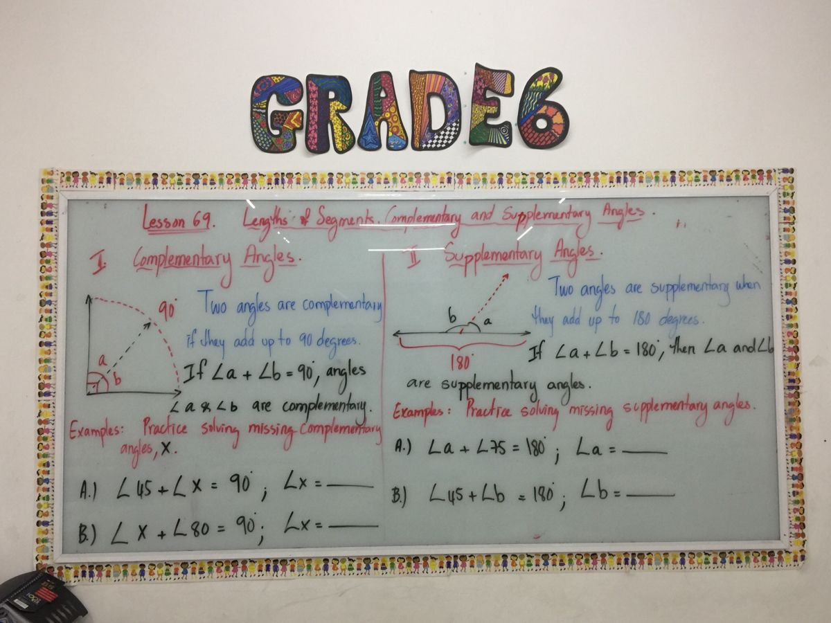 Complementary And Supplementary Angles In