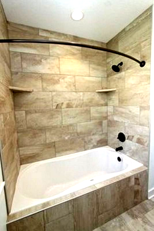 Small Bathroom Remodel With Tub Small Bathtub Shower Combo Gorgeous Small Bathroom Design With Pleas In 2020 Small Bathroom Remodel Small Bathroom Bathtub Shower Combo